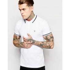Diesel White Polo marškinėliai