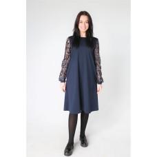 Suknelė su gipiūrinėmis rankovėmis