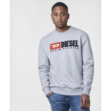 Diesel Light Grey Logo vyriškas džemperis